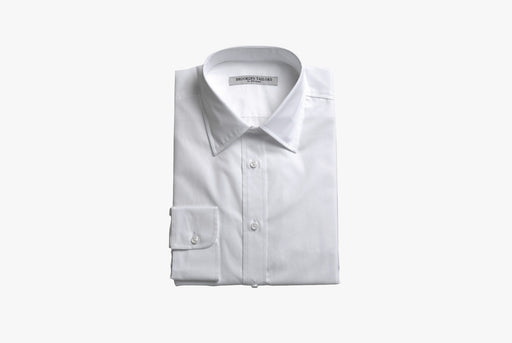 White Dress Shirt - Folded - Front View