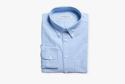 Blue Oxford Shirt - Folded - Front View