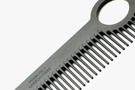 Carbon Fiber Comb - Detail View