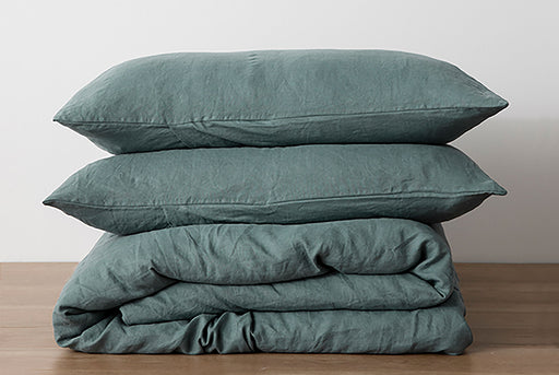Bluestone Pillows and Duvet - Stacked