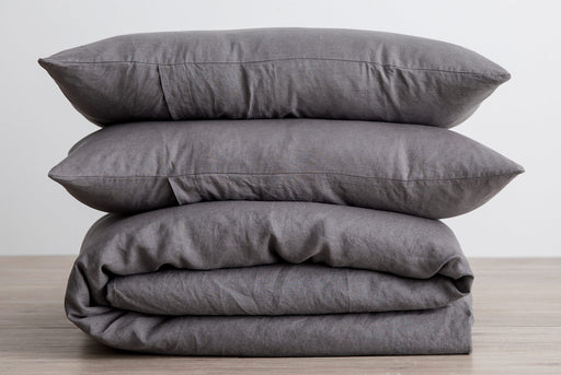 Gray Pillows and Duvet - Stacked