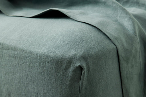 Bluestone Fitted Sheet - On Bed