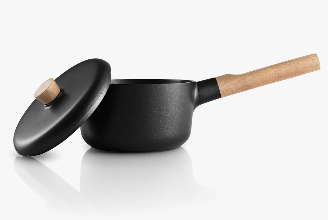 Black Saucepan - With Lid