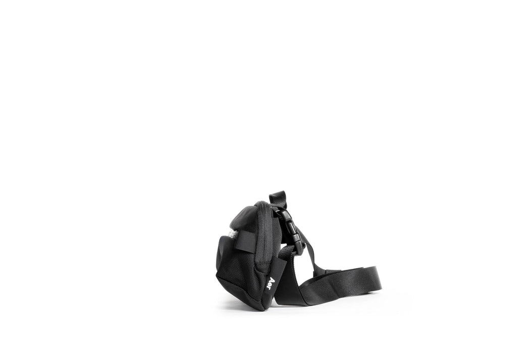 Black Sling Bag Standing Up - Side View