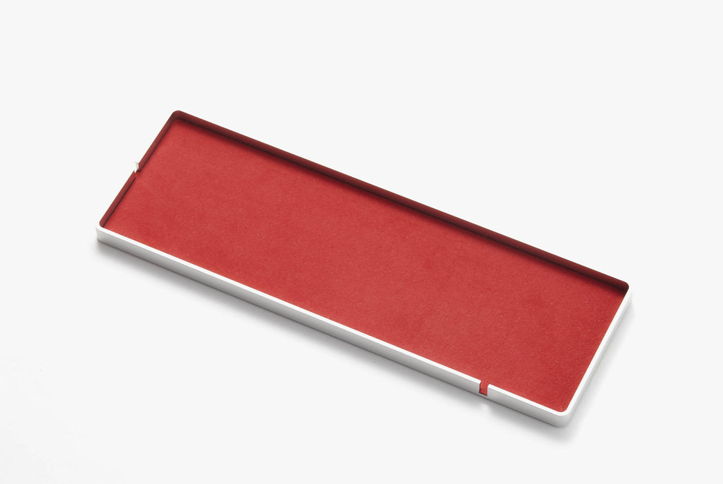Intension Design 4x12 Tray - Red, top-down side shot of tray on a white background