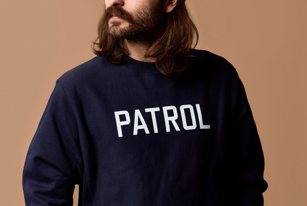Navy Sweatshirt - On Model