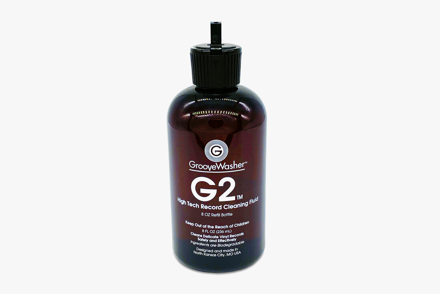 GrooveWasher G2 Fluid 8oz Refill Bottle