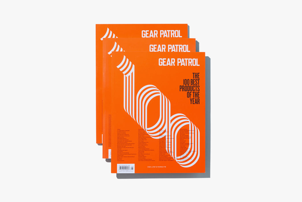 Gear Patrol Magazine, Issue Eight - Stack of three magazines on a white background