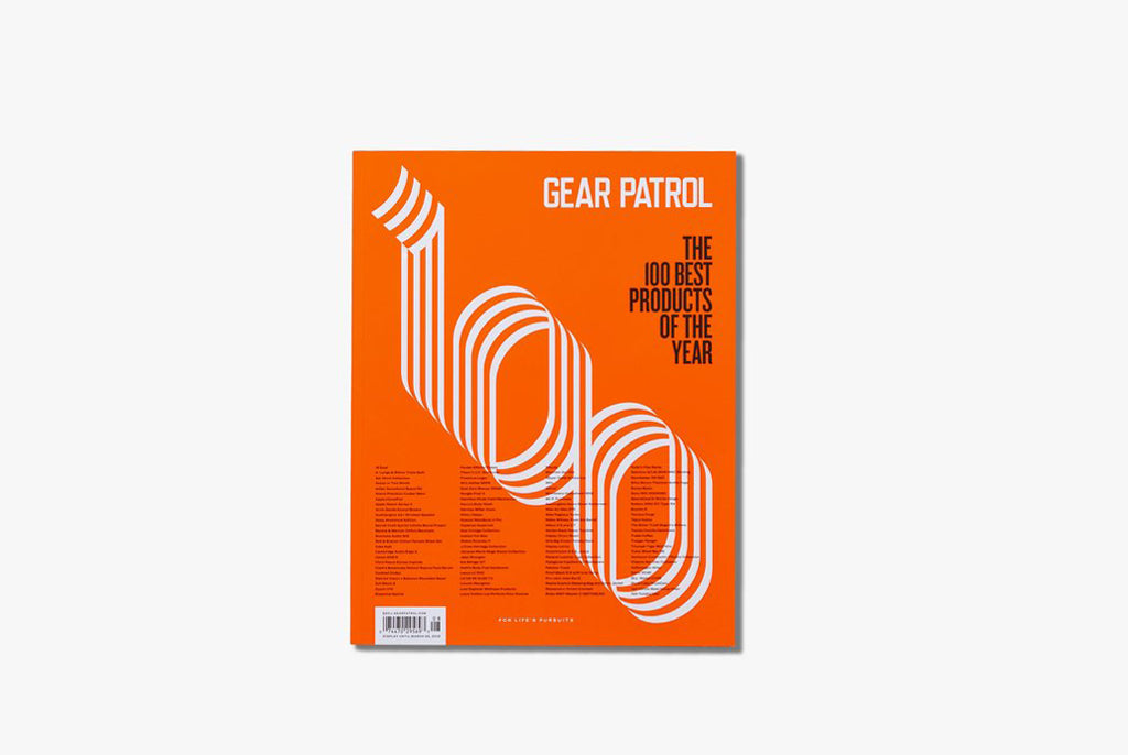 "Gear Patrol Magazine, Issue Eight - Orange Cover with ""100 Best Products of the Year"""