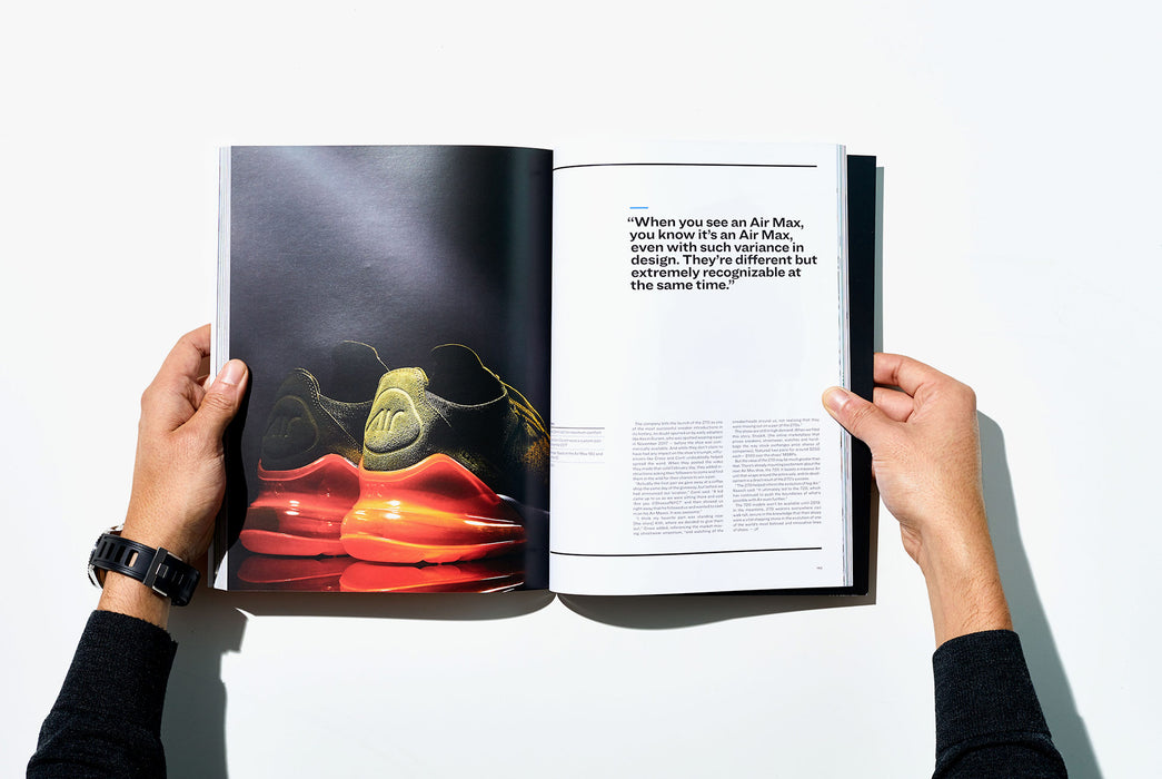 Gear Patrol Magazine, Issue Eight - Open to Spread showing Nike Air sneakers