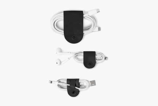 Black - Twelve South CableSnap 3 Pack - 3 different cords wrapped up