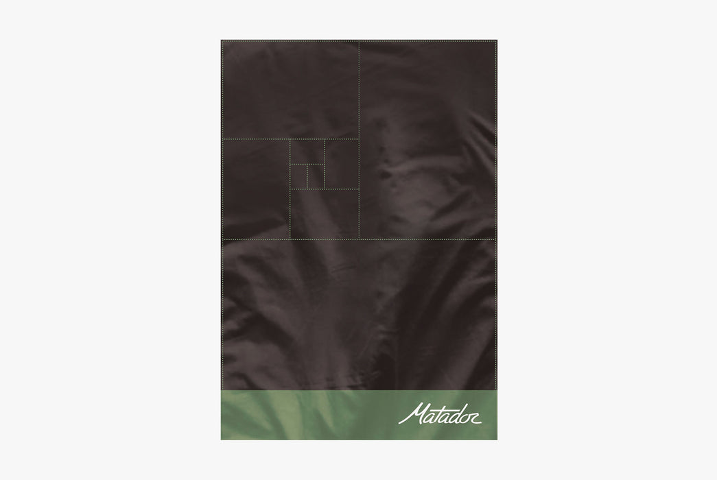 Matador Packable Pocket Blanket - Green - Top-down view of unfolded blanket