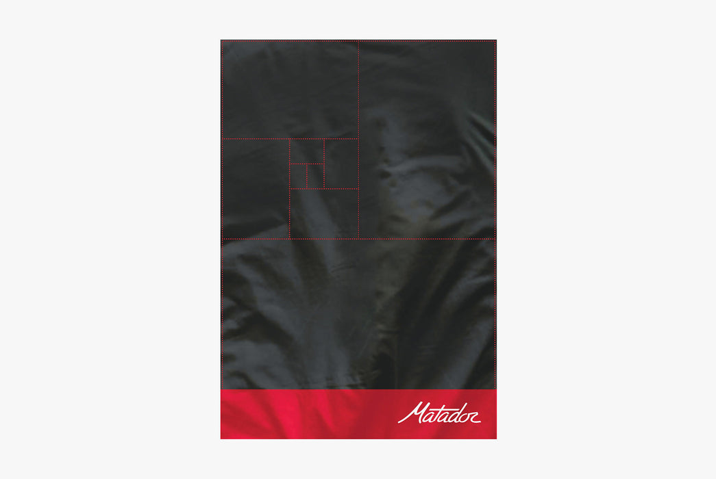 Matador Packable Pocket Blanket - Red - Top-down view of unfolded blanket