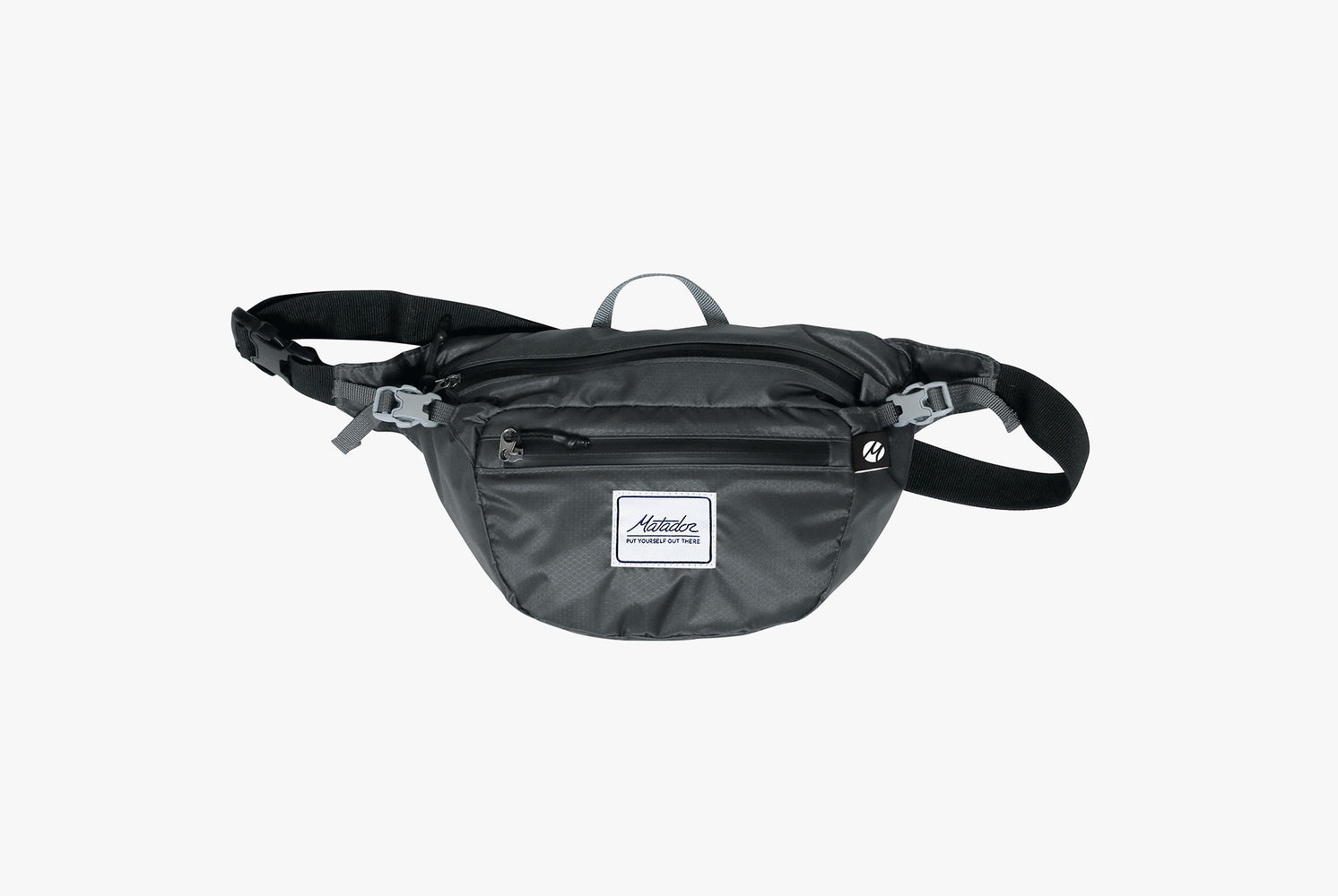 Matador Packable Hip Bag - Grey - Front view of pack