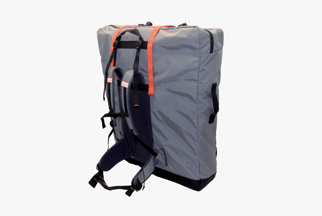 Oru Kayak - Pack Bag - Back view of a pack bag, standing up, showing straps