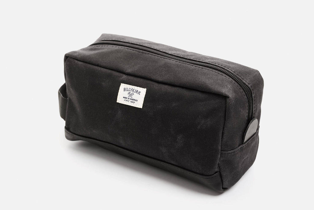 Black Toiletry Bag -  Front View