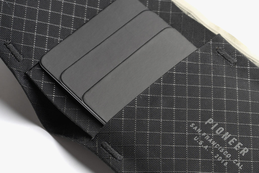 Onyx - Pioneer Flyfold Wallet - Close up with cards in wallet