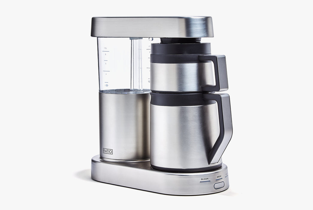 Stainless Steel - Ratio Six Coffee Maker - Angled front photo