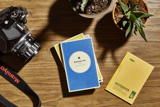 Brooklyn - Wildsam Field Guides - Stacked on table with Camera, plant and pen