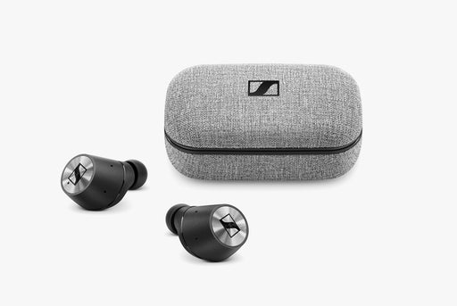 Sennheiser MOMENTUM True Wireless Earbuds  - Earbuds next to case