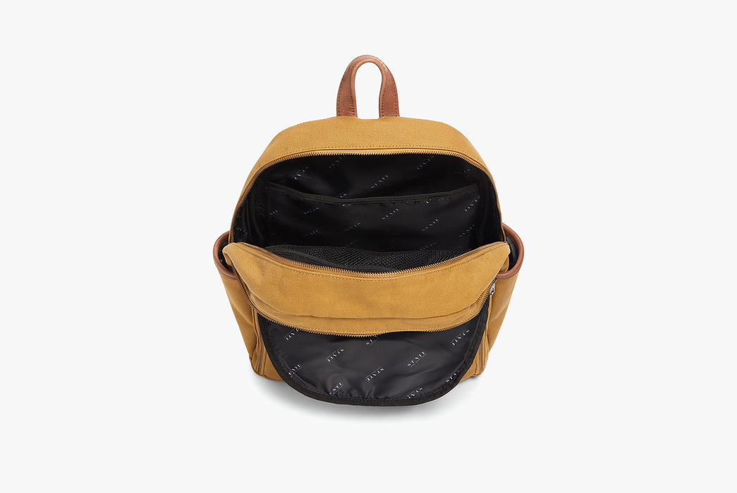 STATE Bedford Cotton Twill Backpack - Backpack open