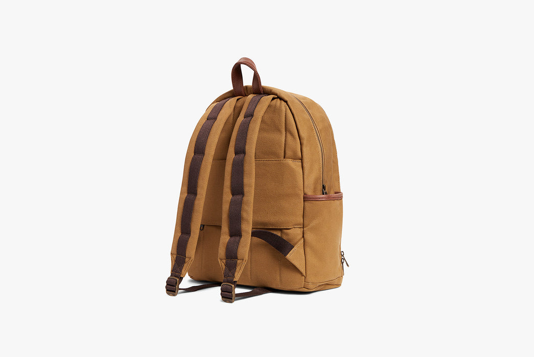 STATE Bedford Cotton Twill Backpack - Strap side of bag