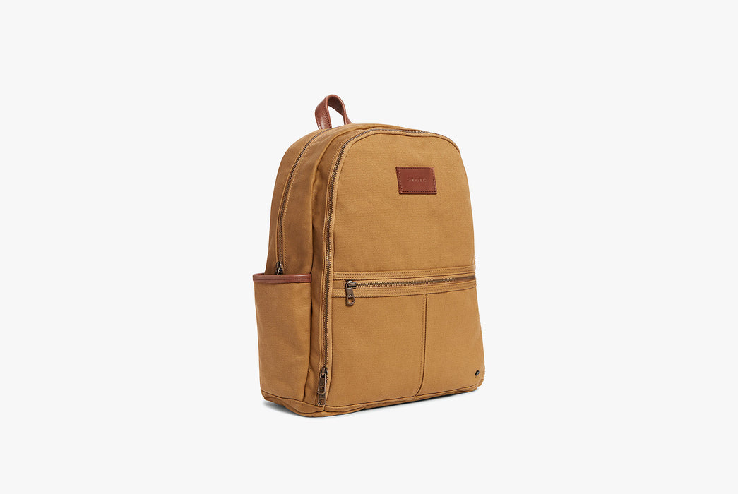 STATE Bedford Cotton Twill Backpack - Angled photo