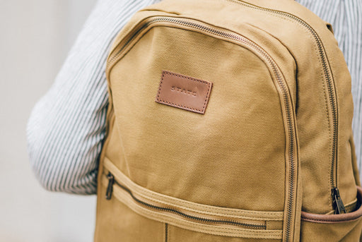 STATE Bedford Cotton Twill Backpack - On persons back