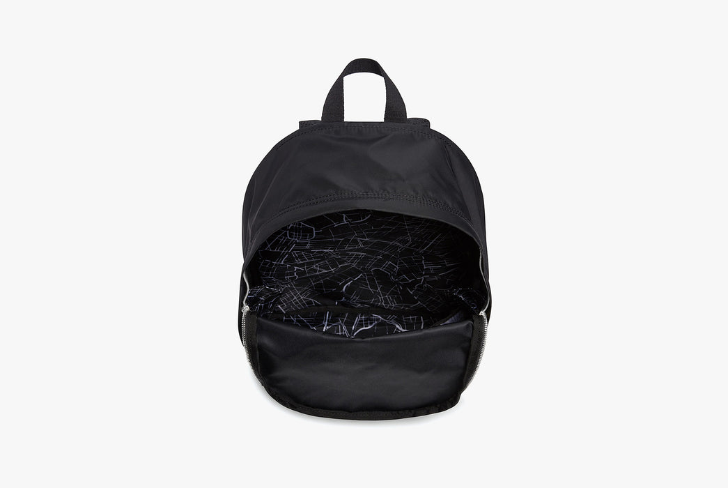 Black - STATE Lorimer Nylon Backpack - Open bag