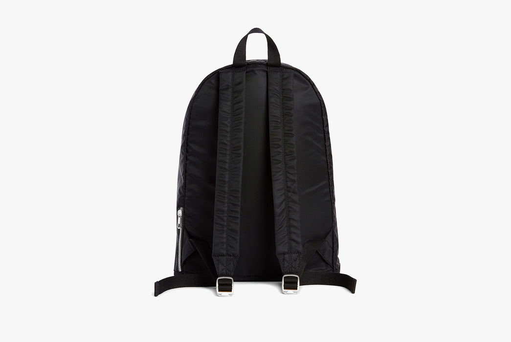 Black - STATE Lorimer Nylon Backpack - Strap side of bag