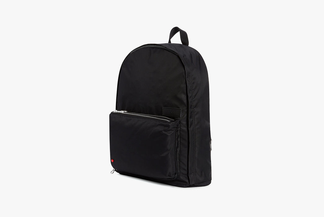 Black - STATE Lorimer Nylon Backpack - Angled photo