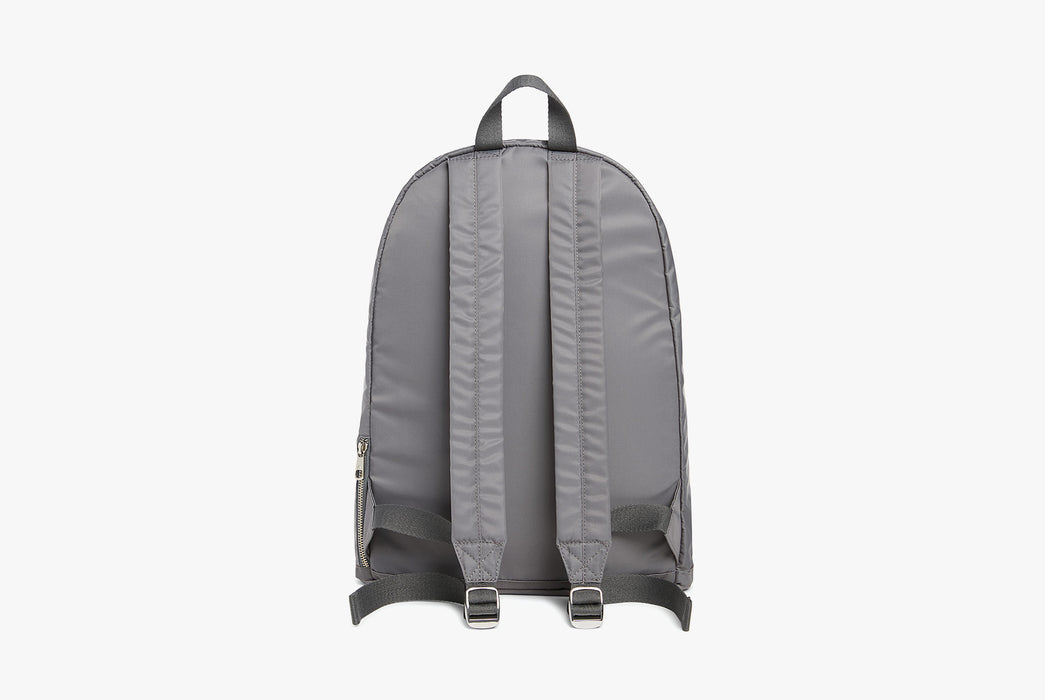 Steel Grey - STATE Lorimer Nylon Backpack - Strap side of bag