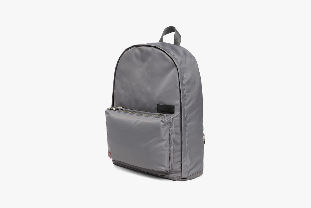 Steel Grey - STATE Lorimer Nylon Backpack - Angled photo