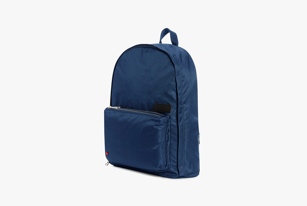 Navy - STATE Lorimer Nylon Backpack - Angled bag