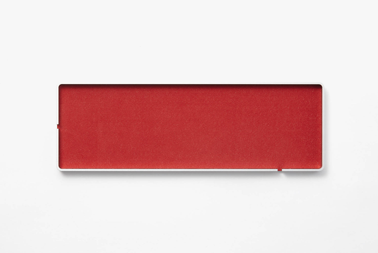 Intension Design 4x12 Tray - Red, top-down shot of tray on a white background