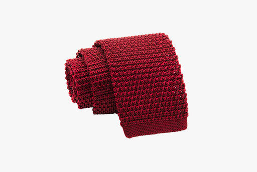 The Dark Knot Edinburg Burgundy Knitted Silk Tie