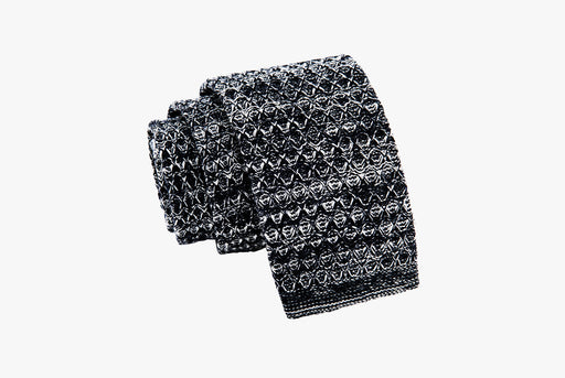 The Dark Knot Ithaca Grey Knitted Wool Tie
