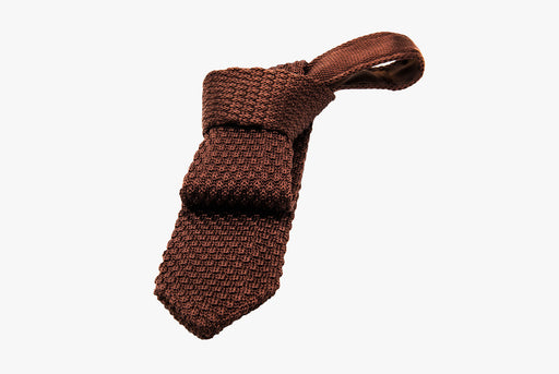 The Dark Knot Lawrence Brown Knitted Silk Tie