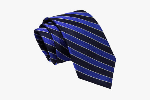 The Dark Knot Canterbury Regimental Silk Tie - Navy/Blue
