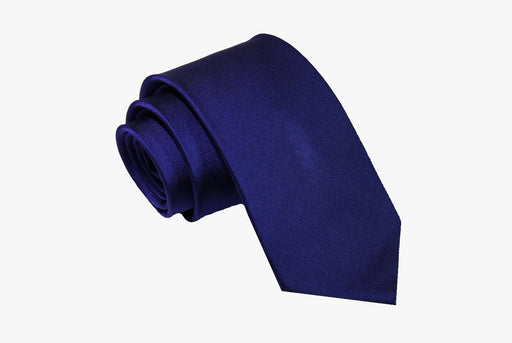 The Dark Knot Waterbury Blue Silk Tie
