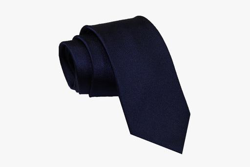 The Dark Knot Winsted Blue Silk Tie