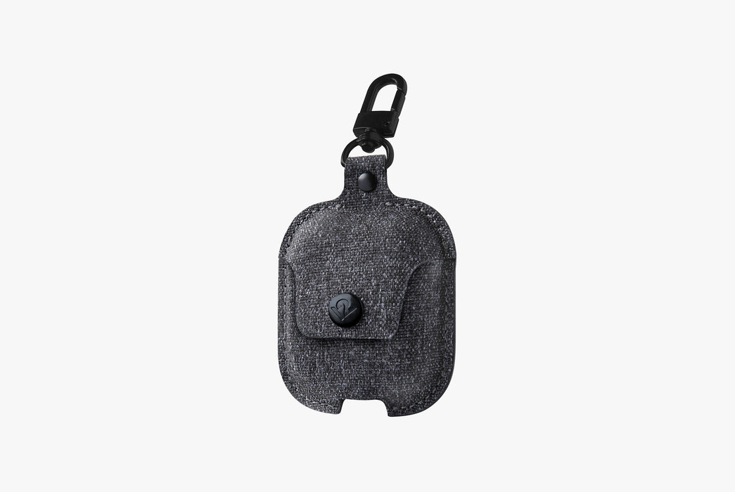 Twill Smoke - Twelve South AirSnap Case for AirPods - Case closed