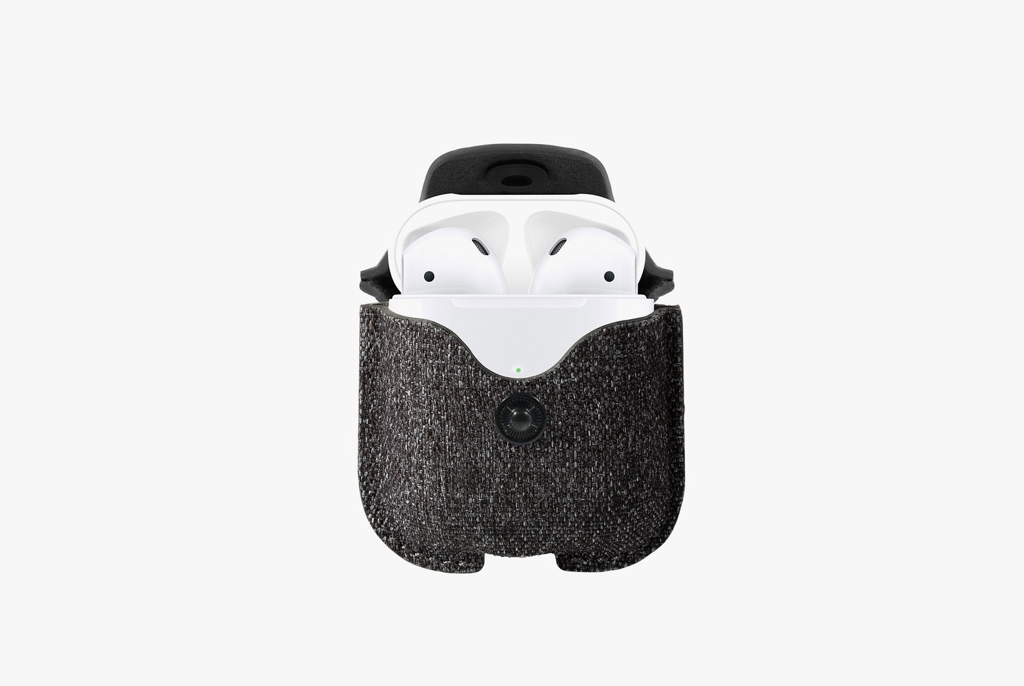 Twill Smoke - Twelve South AirSnap Case for AirPods - AirPods in case