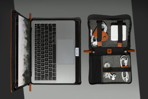 "Twelve South Journal For MacBook 13"" + Journal CaddySack + Cognac CableSnaps Exclusive Bundle - Computer and wires in cases"