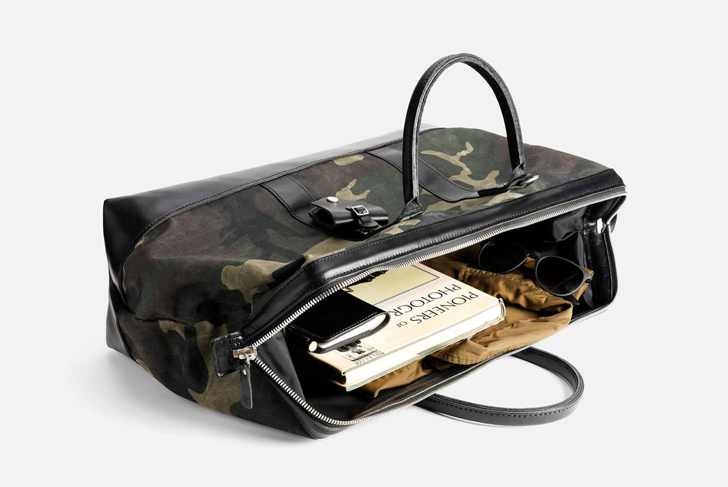 Camo Carryall Laying Down - Unzipped