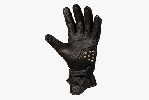 Black/Black - Velomacchi Speedway Gloves - Palm side of glove