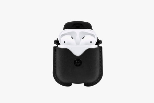 Black - Twelve South AirSnap Case for AirPods  - AirPods inside case