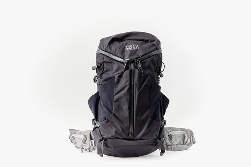 Mystery Ranch Coulee 25 Backpack- Black - front view of bag standing upright