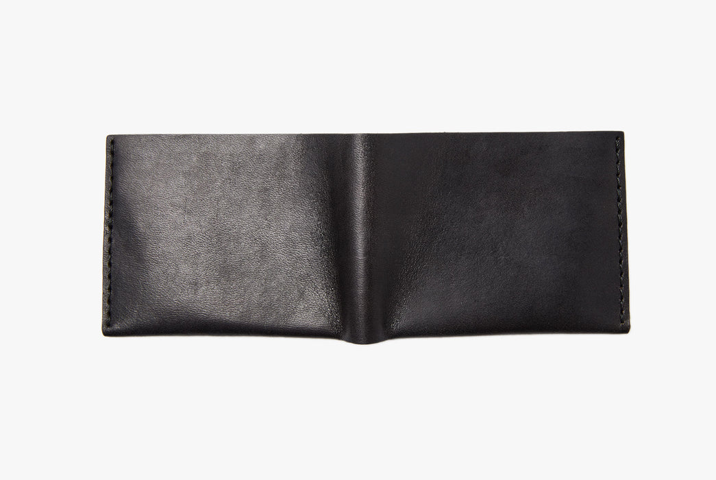 Black Bifold Wallet - Rear View