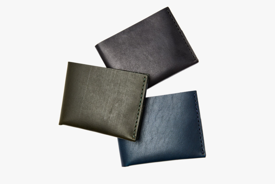 Black, Blue and Green Wallets